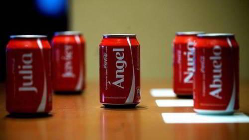 Pon tu nombre en las latas de Coca-Cola