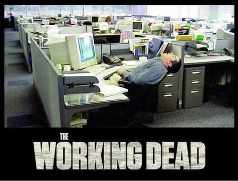 humor gráfico: The working dead