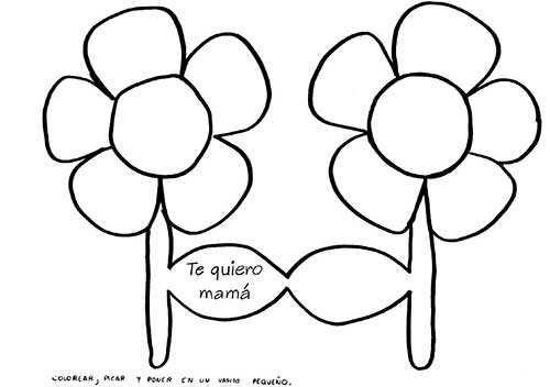 Flores para Mamá - Dibujos para Colorear día de la Madre 18