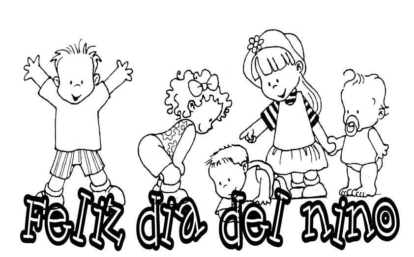 Feliz Día Del Niño Para Colorear