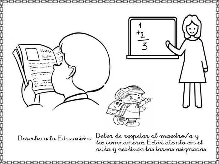 Derecho a la educación y deber de respetar al maestro