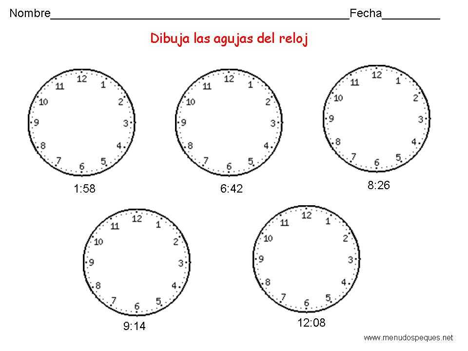 Aprender A Utilizar El Reloj 11