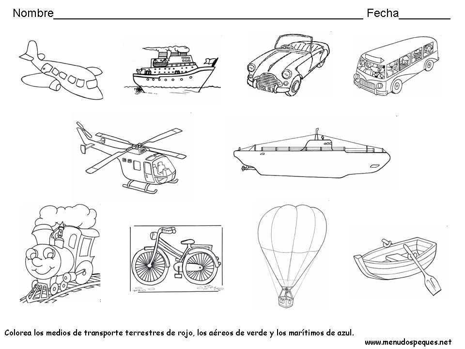 Medios de Transporte | Fichas Didácticas Infantil y Ejercicios ...
