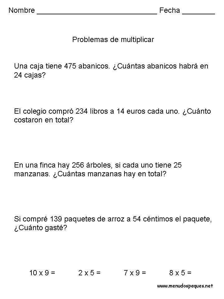 Problemas 24 - Multiplicaciones
