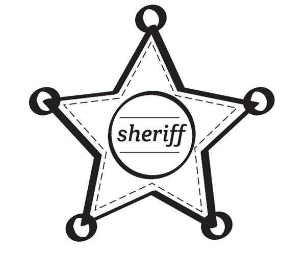 Dibujo Chapa De Estrella De Sheriff Del Oeste
