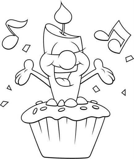 Cupcake con Vela de Cumpleaños