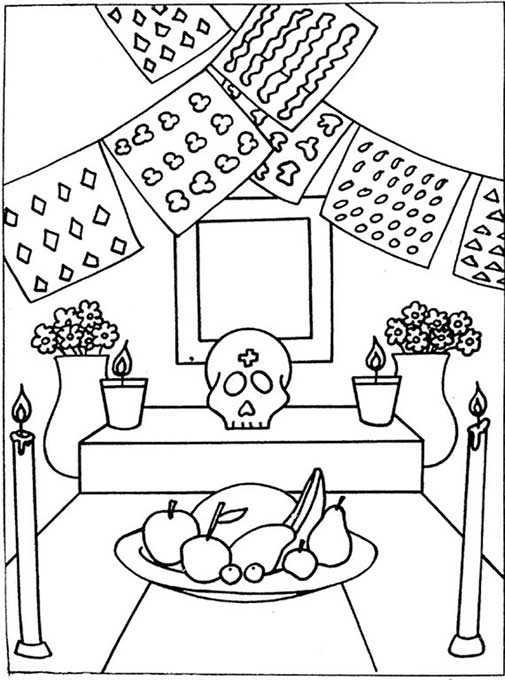 Colorear Día De Los Muertos Tradiciones Halloween