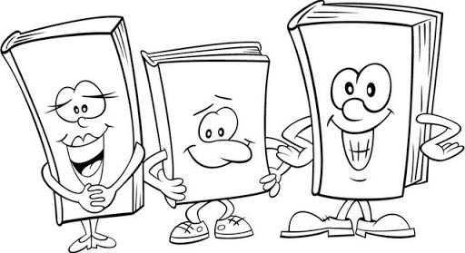 Dibujos para Colorear día del Libro 09