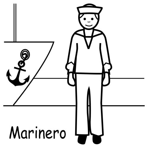 Marinero - Dibujos trabajos y profesiones