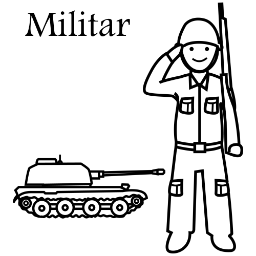 Militar - Dibujos trabajos y profesiones