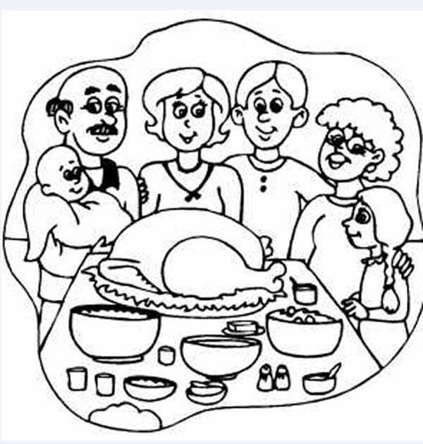 Resultado de imagen de imágenes de dibujos de comida familiar