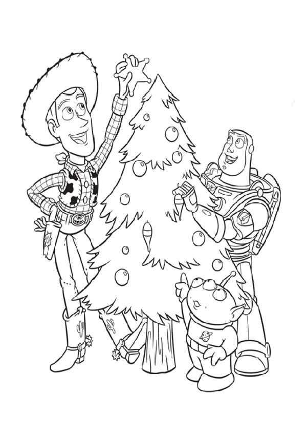 Dibujo Toy Story En Navidad