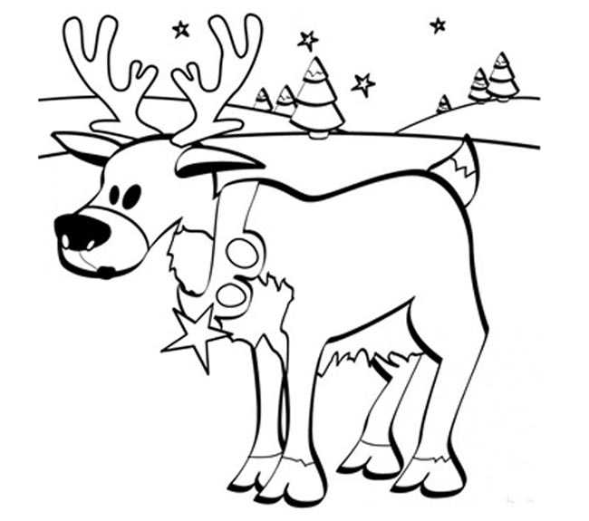 Dibujo reno Navidad