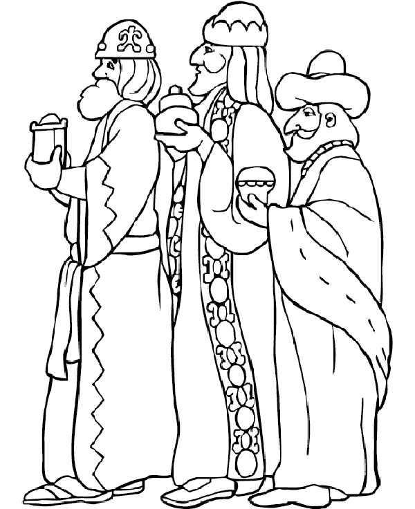 Dibujos Para Colorear De Los Reyes Magos En Camello