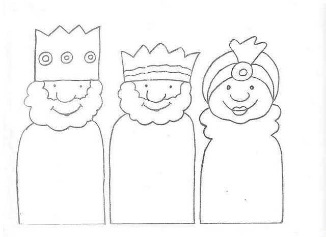 Dibujo De Los Tres Reyes Magos