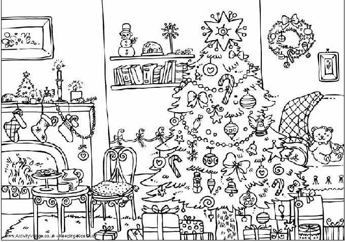 Dibujo decoracin navidea