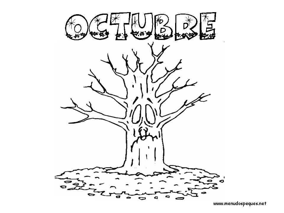 Colorear Meses del Año 10 - Octubre