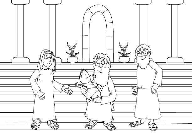 Para Colorear Jesus En El Templo - tongawale.com