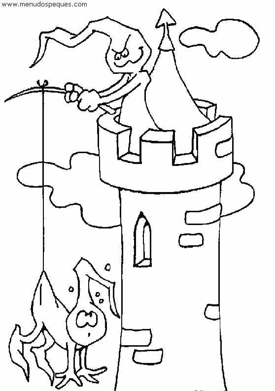Colorear castillos encantandos 04 | Halloween | Láminas para ...