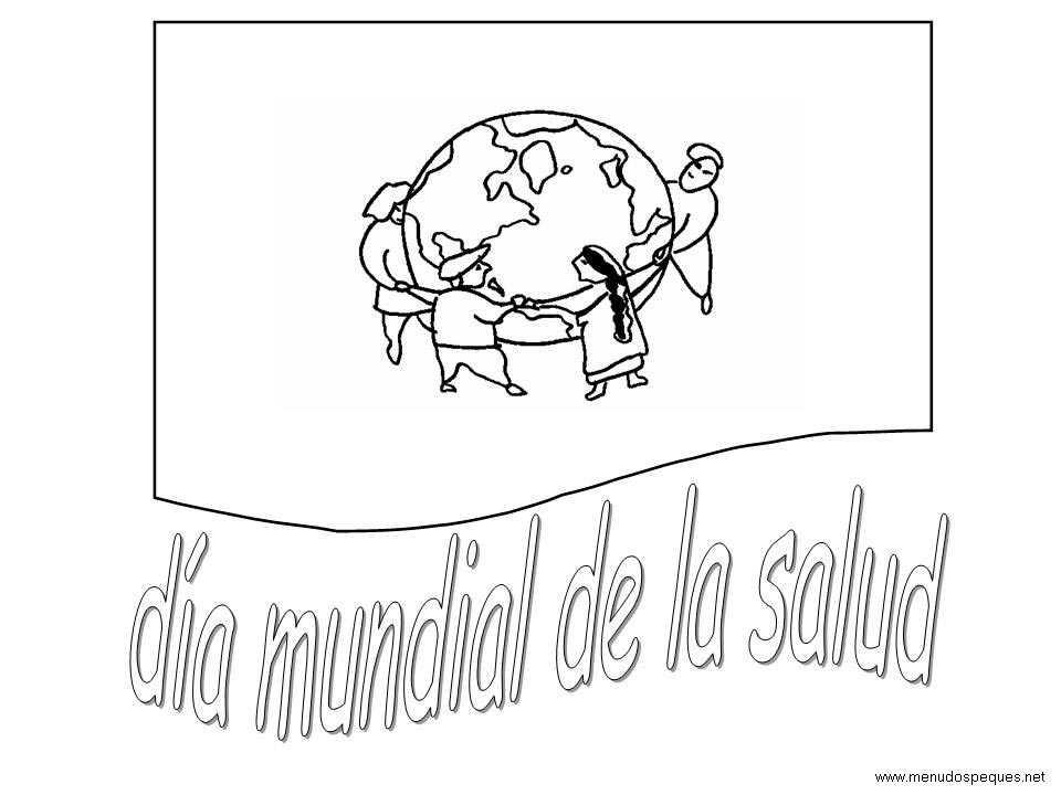 Colorear día Mundial de la Salud 03
