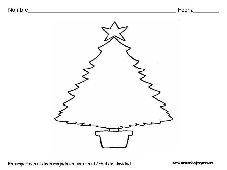 Ficha infantil Navidad: Árbol de Navidad