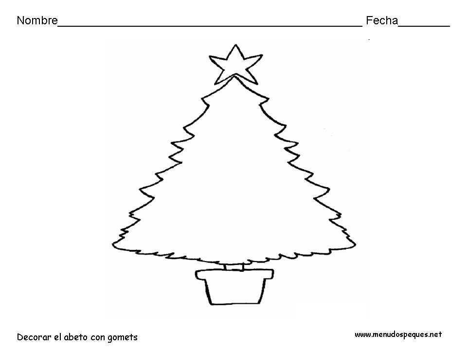Pino Para Colorear Navidad. Papa Noel Pino De Navidad Y Regalos Para ...