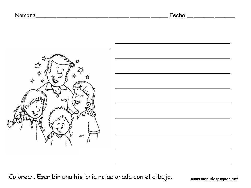 Ficha infantil Navidad: Redactar una historia