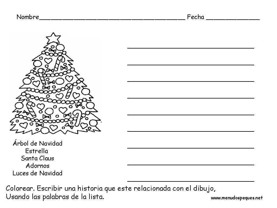 Ficha infantil Navidad: Vocabulario de Navidad
