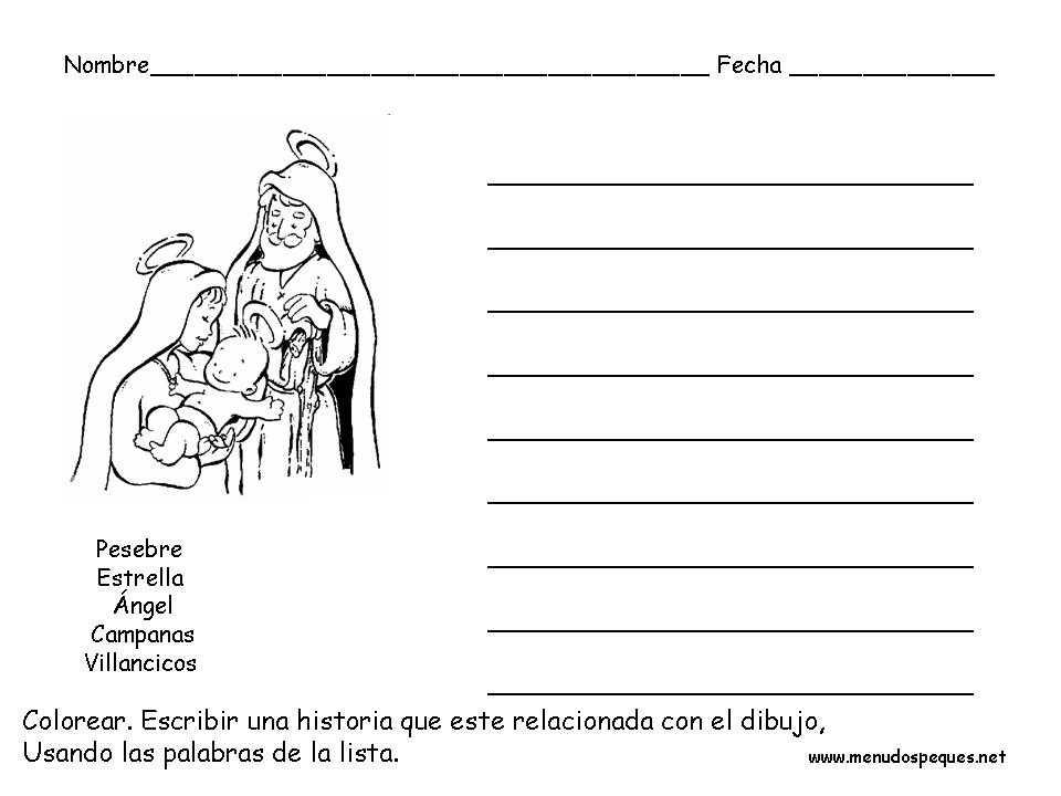Ficha Infantil Navidad Vocabulario Navideño