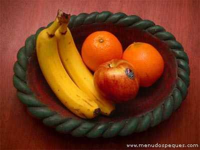 Alimentación para bebés de 0 a 1 Años, frutas, papillas